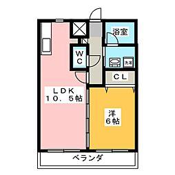 エコル・リノ[2階]の間取り