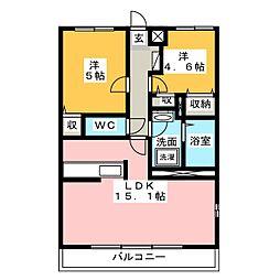 エクラときわ6[1階]の間取り
