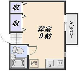 ジュネス祇園[2階]の間取り