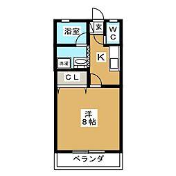 ソワサント[1階]の間取り