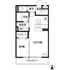 リビングタウン東金沢 B[113号室]の間取り