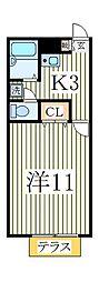 アムール江戸川台[2階]の間取り