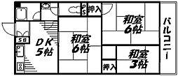 Osaka Metro谷町線 守口駅 徒歩4分の賃貸マンション 2階3DKの間取り