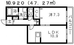 Wisteria天王寺 (ウィステリア天王寺)[3階]の間取り