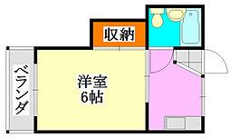 ハイツトキワ[205号室]の間取り