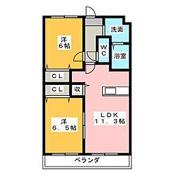 エスベランサ[2階]の間取り