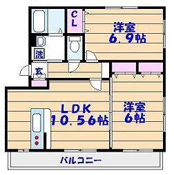 グローリー倉島[1階]の間取り