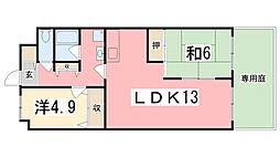 明石土山駅前スカイハイツA棟[112号室]の間取り