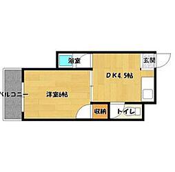 シャロンハイツ[2階]の間取り