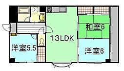 段原中田ビル[3階]の間取り