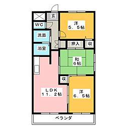 ソレ−ユ[1階]の間取り
