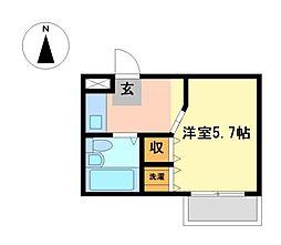 プランドール武蔵野 4a[2階]の間取り