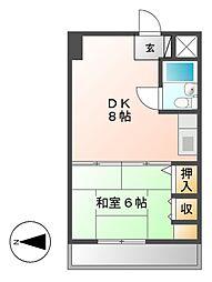 ラ・クール泉[4階]の間取り