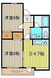 デュオブラウンA・B[1階]の間取り