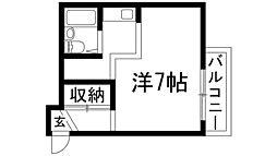 大阪府池田市石橋1の賃貸マンションの間取り