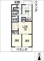 ライオンズマンション東山第23-11号[3階]の間取り
