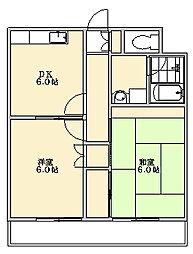 タイセイマンション[2階]の間取り