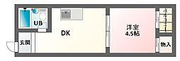 プレアール北田辺II[3階]の間取り