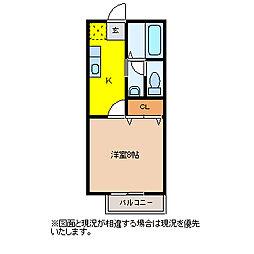 毛呂山ヒルズ[102号室]の間取り