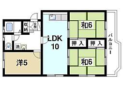 坂田マンション[1階]の間取り
