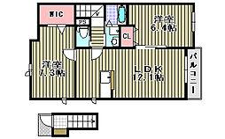 オリーブコート[2階]の間取り