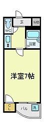 大阪府大阪市阿倍野区阿倍野筋5丁目の賃貸マンションの間取り