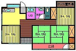 [一戸建] 宮崎県都城市祝吉3丁目 の賃貸【/】の間取り