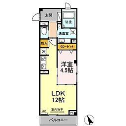 仙台市営南北線 広瀬通駅 徒歩4分の賃貸マンション 3階1LDKの間取り