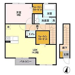 Green roof (グリーン ルーフ)[2階]の間取り