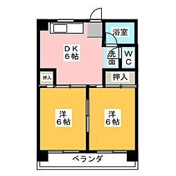 梅野ビル[3階]の間取り