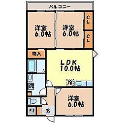 JUN MIYAZAKI[5階]の間取り