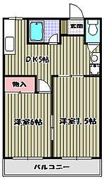谷マンション[1階]の間取り