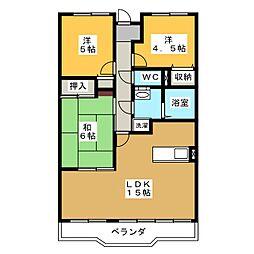 第2三恵マンション[2階]の間取り