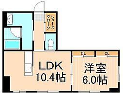 ボナールUSUKURA[1階]の間取り