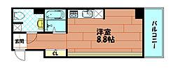 ZERO弁天[7階]の間取り