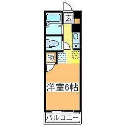 広島県東広島市西条本町の賃貸マンションの間取り