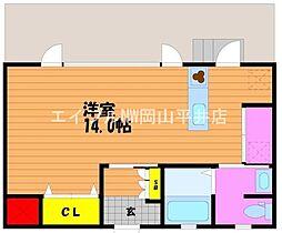 JR宇野線 宇野駅 徒歩15分の賃貸アパート 1階1Kの間取り