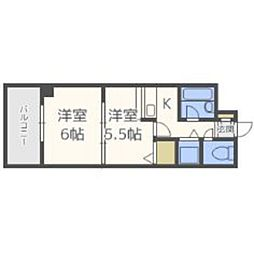 福岡県福岡市南区三宅2丁目の賃貸マンションの間取り