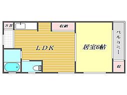 小竹マンション[3階]の間取り