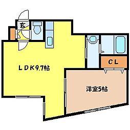 北海道札幌市豊平区美園九条2丁目の賃貸マンションの間取り