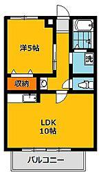 セジュールKAZU NO3[2階]の間取り