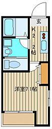 キャッスル大泉[3階]の間取り