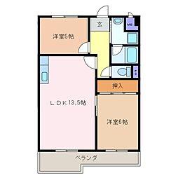 アクシア泊[2階]の間取り