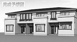 岡山県赤磐市下市丁目なしの賃貸アパートの外観