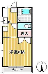野田コーポ小松島[103号室]の間取り