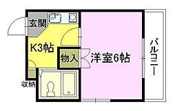 エントランス矢賀[2階]の間取り