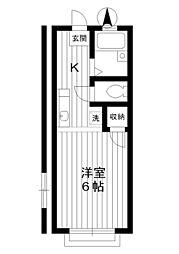 東京都板橋区小茂根1丁目の賃貸アパートの間取り