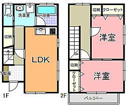 メゾネットオノアパート A棟[A-1号室]の間取り