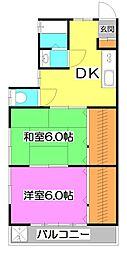 高田屋ハイツ[2階]の間取り