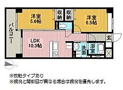 モン・ヴィラージュ佐賀駅前[8階]の間取り